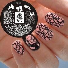 Marilyn Monroe Pattern Nail Art Stamp Template Image Plate Nail Stamping Plates Pandox AP15 Nail Art Decoration