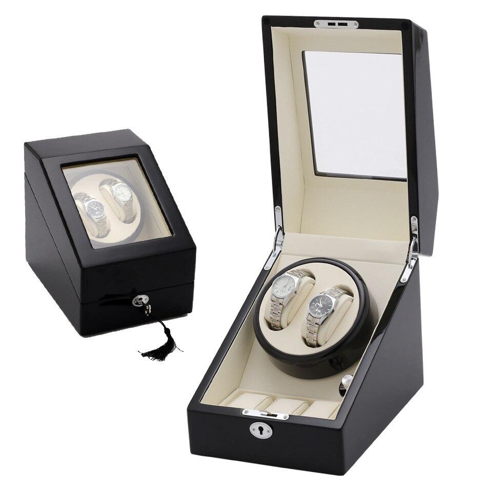 Permalink to Automatic Mechanical Watch Winding storage Box Wooden Auto Silent Watch Winder Shape Transparent Cover Wristwatch organizer Box