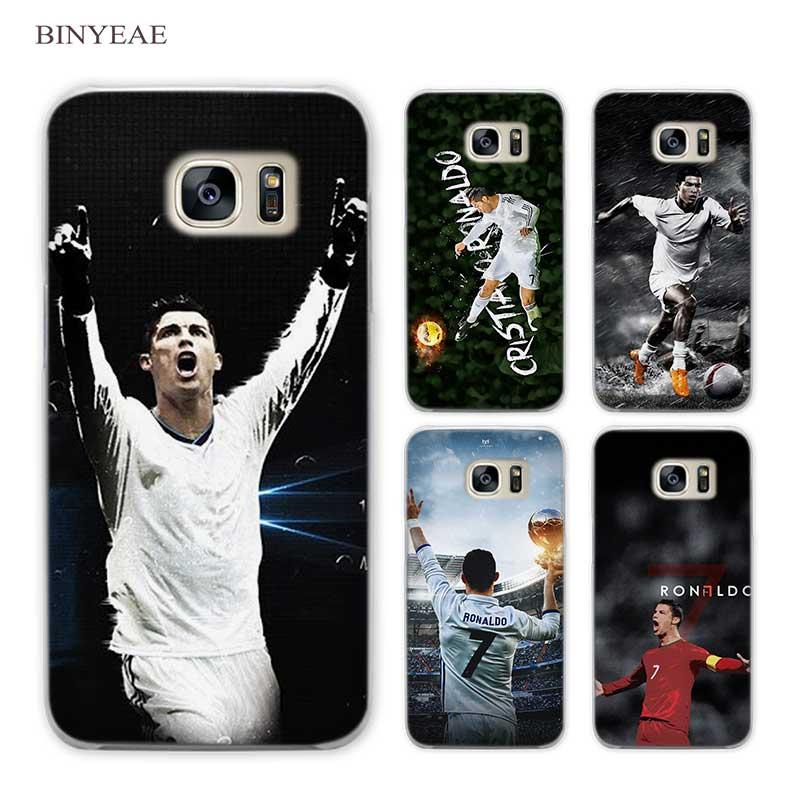 BINYEAE cr7 cristiano ronaldo soccer Clear Phone Case Cover for Samsung Galaxy S3 S4 S5 Mini S6 S7 S8 Edge Plus