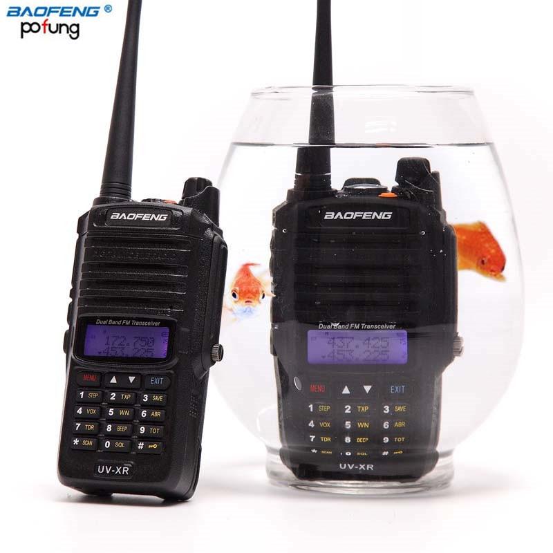 Baofeng UV-XR Impermeabile Walkie Talkie 10 Watt Potente 10 W CB Ham radio portatile Tenuto In Mano 10 KM Lungo Raggio A Due way Radio di pesca