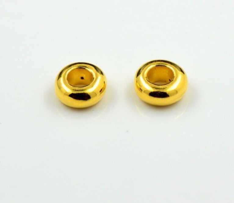 цены New Arrival 1PCS 24k Solid Yellow Gold Pendant / Cute Fat Loose Bead Pendant