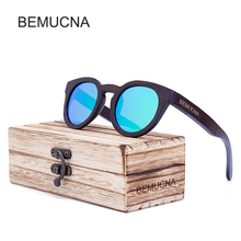 2017 New BEMUCNA Bamboo Sunglasses Men Wooden Sunglasses Women Brand Designer Vintage Wood Sun Glasses Oculos de sol masculino