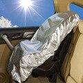 Película de Aluminio de plata Niños Asiento de Seguridad Del Coche Parasol Cubierta Parasol Bloquear Ultravioleta Aislamiento Accesorios Cochecito
