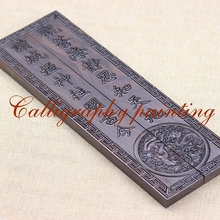 Paperweights Black Catalpa Wood  Carving  Painting Calligraphy Sumi-E