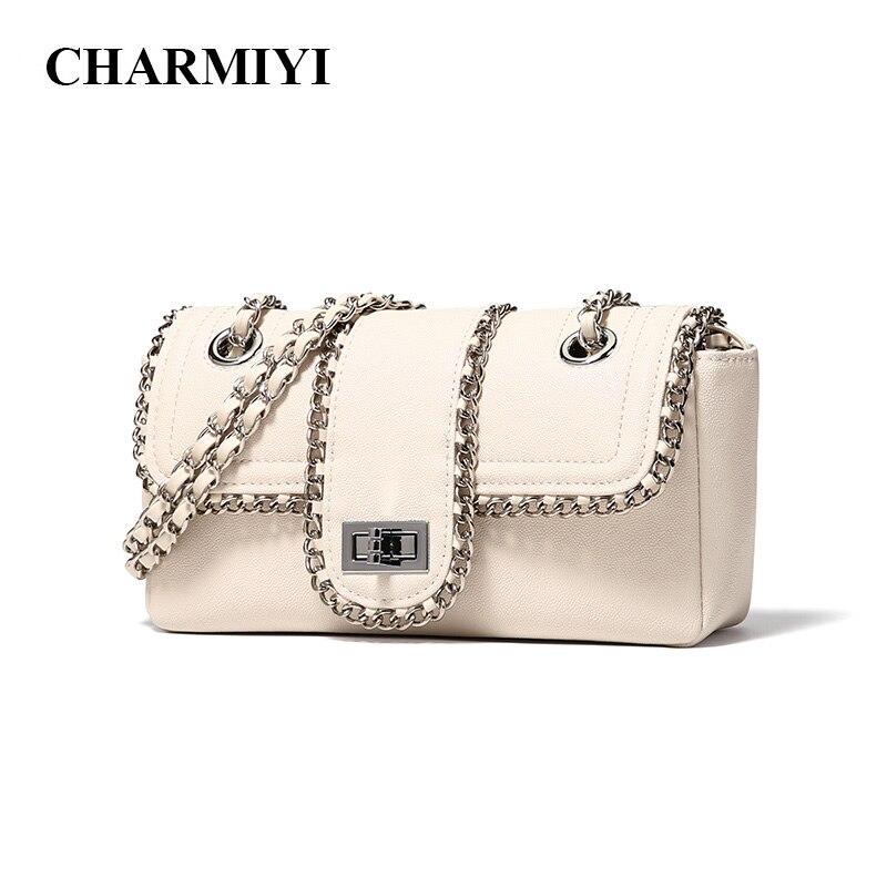 CHARMIYI bolsos de hombro de cadena de mujer famosa marca de lujo bolso de las señoras bolso de diseñador bandolera para mujeres 2019 bolso de mano-in Bolsos de hombro from Maletas y bolsas    1