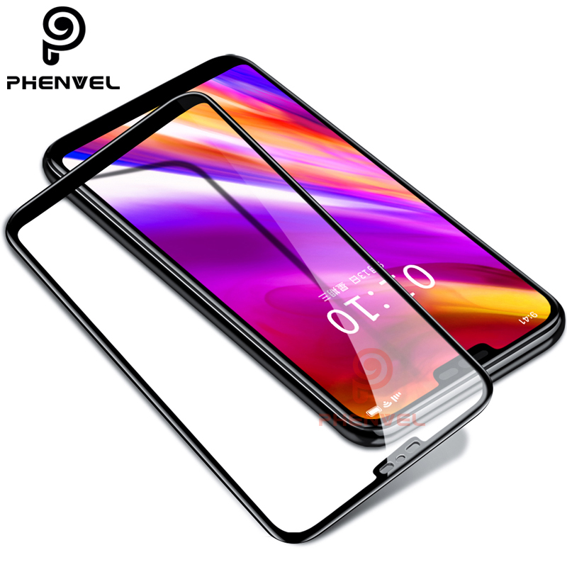 Phenvel 3D Tempered Glass For LG G7 Thinq 9H Full Cover Oleophobic Coat Glass Protective Film For LG G7 Screen Protector