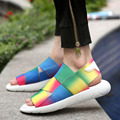 New Arrival Outdoor Men Sandals Open-toed Beach Sandals Fashion Soft Leather Men Shoes Zapatillas Hombre 3 Colors
