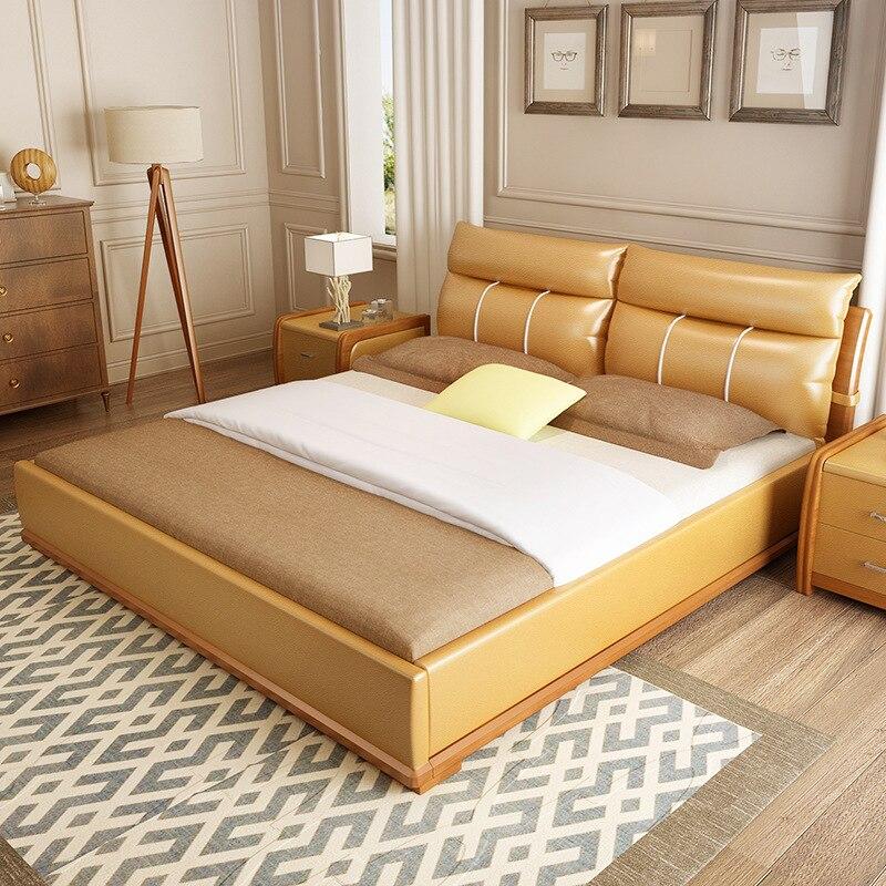 US $477.36 48% di SCONTO|1.8 m Letto Matrimoniale Tatami Camera Maestro  Letto Camere Da Letto Semplice E Moderno Bed # CE 101-in Set per camera da  ...