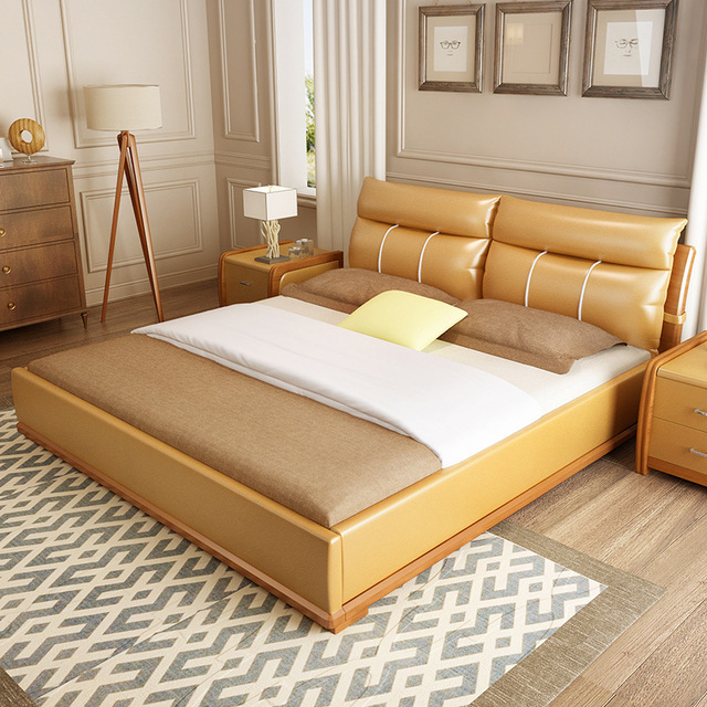 1.8m Double Bed Tatami Room Master Bed Bedrooms Simple Modern Bed #CE 101