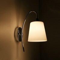 Quarto LED Lâmpada de Parede 220 V Ferro Moderna Lâmpada de Cabeceira E27 * 2 Moda Chapeamento Lâmpada 3 W Tipo de Copo de Vidro Sala De estar Lâmpada Hardware