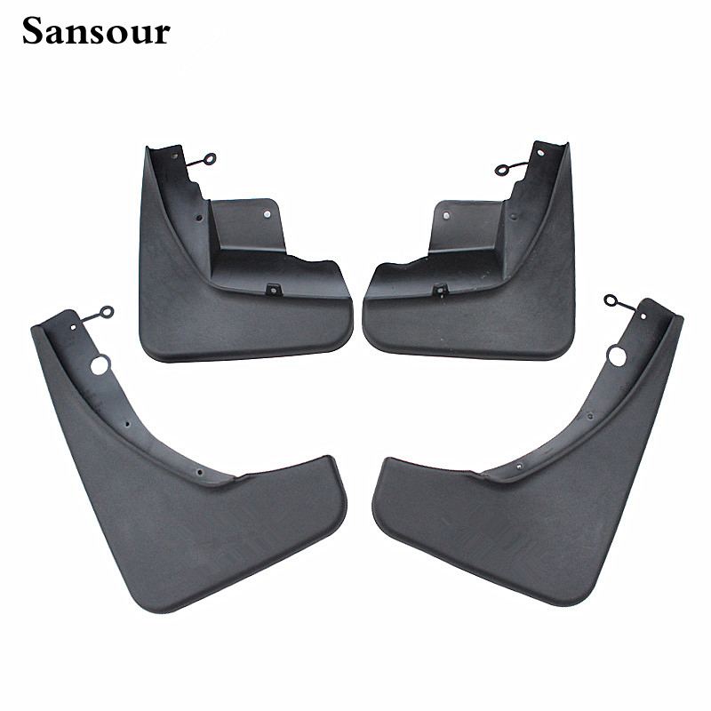 Sansour 2017 HOT For Jeep Grand Cherokee 2011-2015 Deluxe Front & Rear Mud Splash Guards Flap <font><b>4</b></font> pcs / Set Free Shipping image