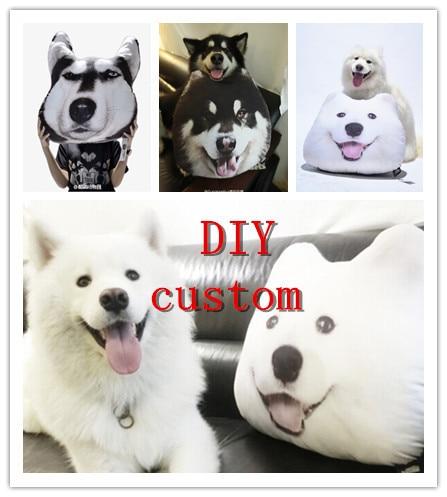 Animal Cushion Diy Custom Pet Photo Pillow Dog Cat Samoyed Alaskan