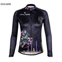 ILPALADINO 2017 Team Wear Clothing Ropa Ciclismo Cycling Jersey Women Bike Bicycle Long Sleeve Breathable Shirts Tops Black cube