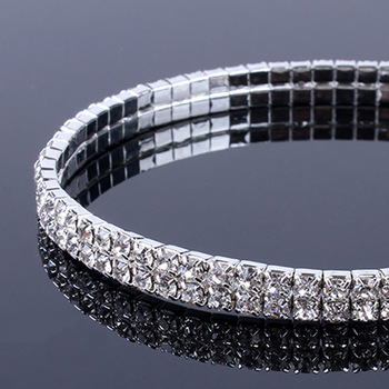 Shiny Crystal Rhinestone Elastic Anklets for Women Ankle Bracelet on the Leg Bracelet Layered Anklet Foot Jewelry enkelbandje 2