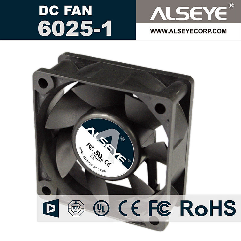 ALSEYE 6025 60mm Cooling Fan 12V 0.22A 3000RPM for Electrical and Computer Cooling, Radiator Fan 60 x 60 x 25mm alseye computer memory cooling fan ram cooler aluminum heatsink and dual pwm 60mm fans radiator 4000rpm for ddr12345