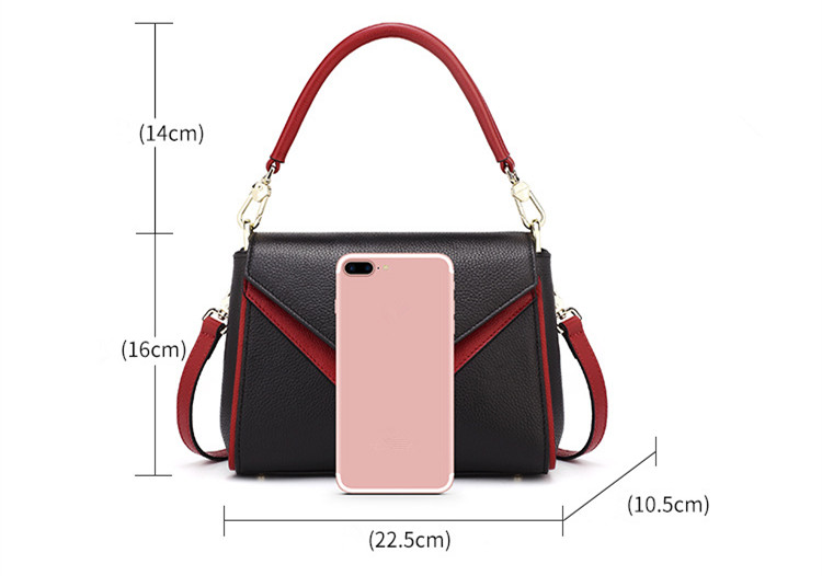 233750beaee4 2017 Women Genuine Leather Handbags Patchwork Panelled Handbag Lady  Shoulder Messenger Bags Beautiful Business Casual Tote Bag-in Shoulder Bags  from Luggage ...