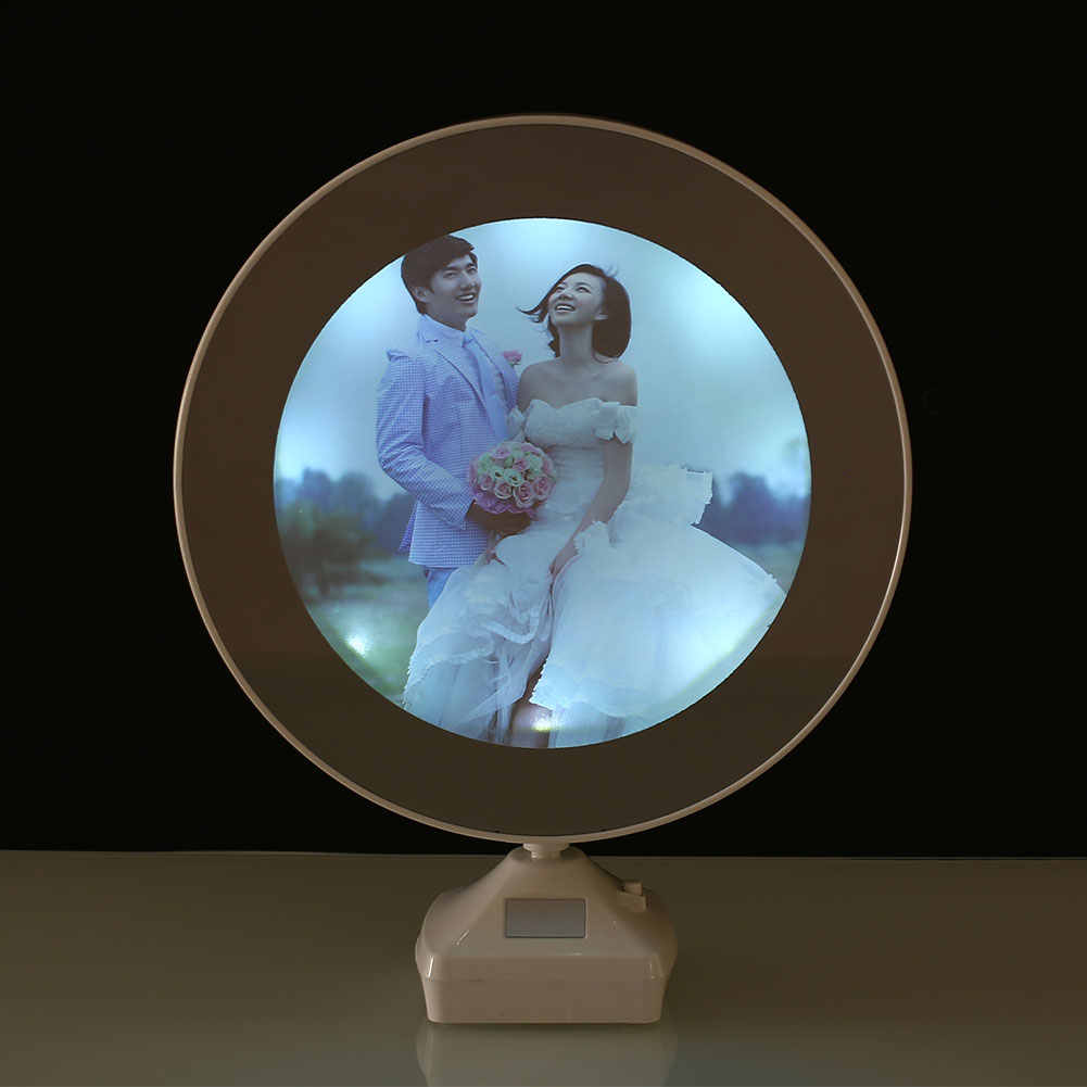 Luminous Glowing Mirror Magical Photo Frame DC 5V Multifunction White Room Desktop Mirror Night Light with USB Charging Cable