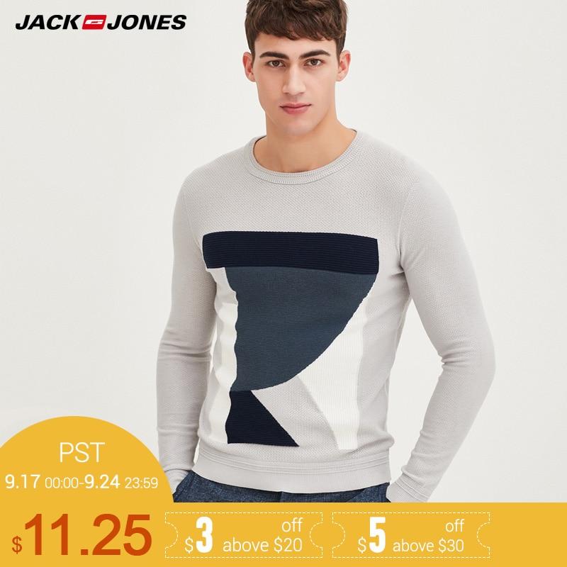 Jack & Jones Marke 2018 NEUE wolle dünne stricken männlichen pullover 217124510