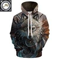 Wolf Warrior By SunimaArt Hoodies Unisex Hooded Sweatshits Drop Ship Animal Hoodie Brand Tracksuits 2018 Pullover