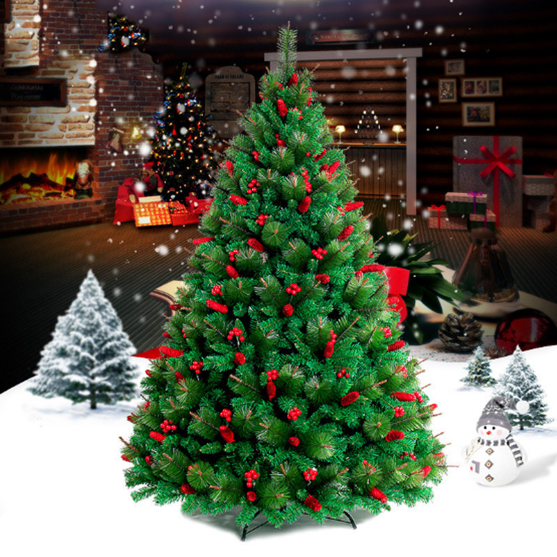 1 5M 1 8M 2 1M pine needles encryption red Christmas tree family hotel shopping malls