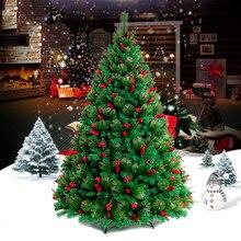 1,5 м/1,8 м/2,1 М/хвои шифрования красный Рождественская елка семейный отель торговые центры Новогоднее украшение Поставки