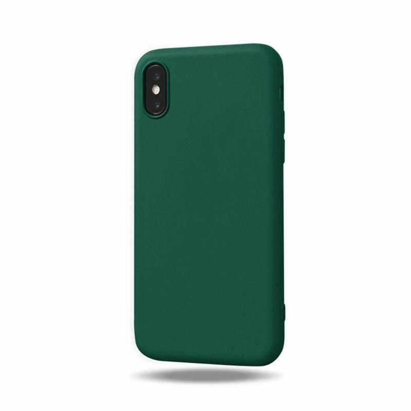 Pour iPhone 5 5S Mignon Solide Doux TPU coque en silicone pour Apple iPhone 5S SE 6 6S 7 8 Plus X MAX XR X 11Pro Couverture de Téléphone Fundas