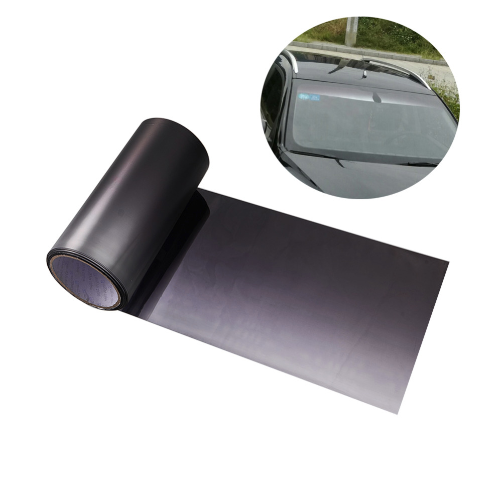 AUMOHALL Top Front Windshield Foil Solar Protection Gradient Black 10x150cm 20x150cm Car Tinting Film