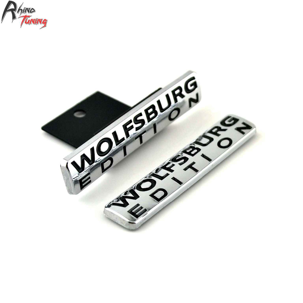 Rhino Tuning 1Set Wolfsburg Edition Car Front Grill Grille Emblem Auto Styling Badge ABS Sticker For Touareg Golf Tiguan 782 metal red st front grille sticker car head grill emblem badge chrome sticker for ford fiesta focus mondeo auto car styling