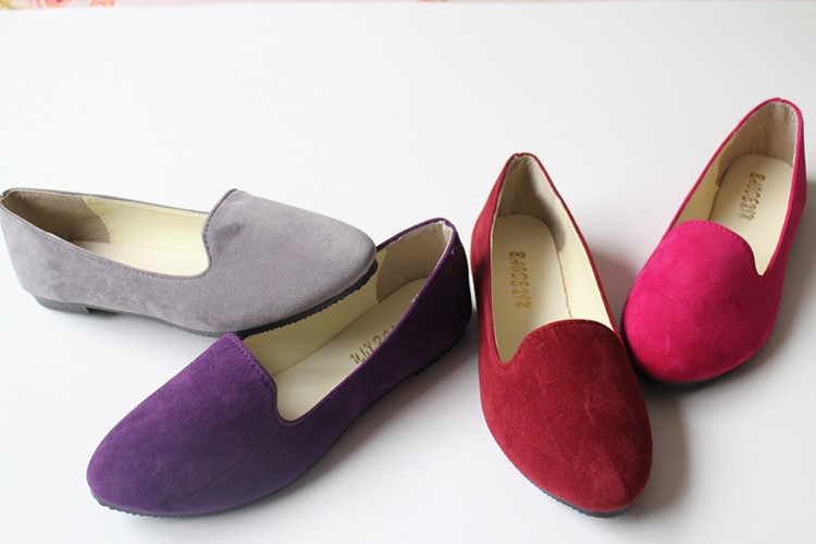 Hot selling large size 35-42 classic candy color ladies shoes fashion wild slip on flat shoes women casual summer shoes DT55 (3)