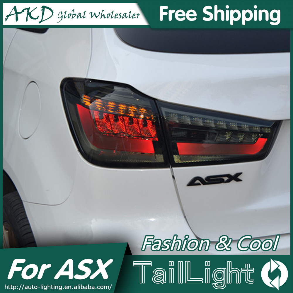 AKD Car Styling for Mitsubishi ASX Tail Lights 2013-2015 ASX LED Tail Light Outlander Rear Lamp DRL+Brake+Park+Signal car styling asx taillight 2013 2015 free ship 4pcs asx fog light chrome asx tail lamp jimny car detector asx