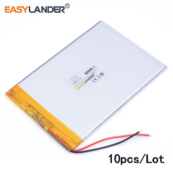10pcs/Lot 3083136 3.7v tablet battery 3600mah li-ion rechargeable battery for medical device or POS video game IPAQ MID laptop