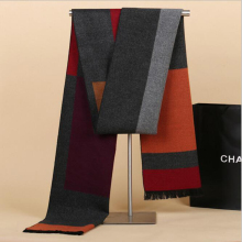 2018 New Men Scarf Color Contract Mufflers Business Casual Men's Scarves Neckerchief for Male Winter Shawl pashmina sjaal szalik