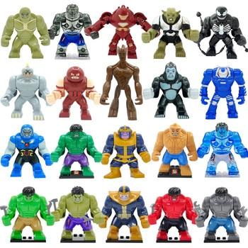 Super Hero Action High Marvel Avengers Block Hulk Dogshank Darkseid Gorilla Grodd Mark 38 Igor Kids Educational Toys Super Hero