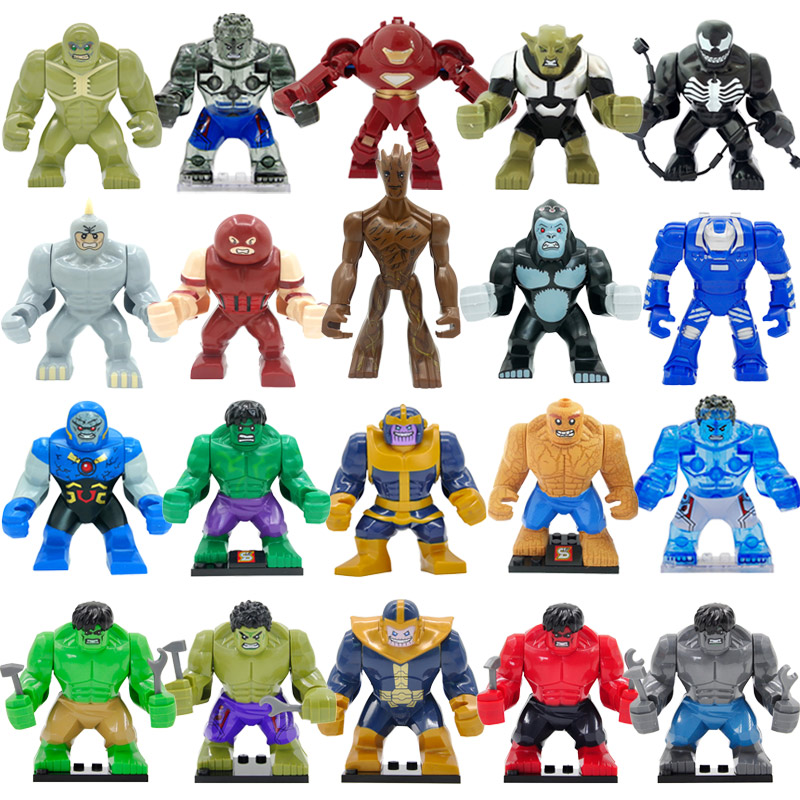Super Hero Action High Marvel Avengers Legoingly Block Hulk Dogshank Darkseid Gorilla Grodd Ironman Mark 38 Igor Kids Toys