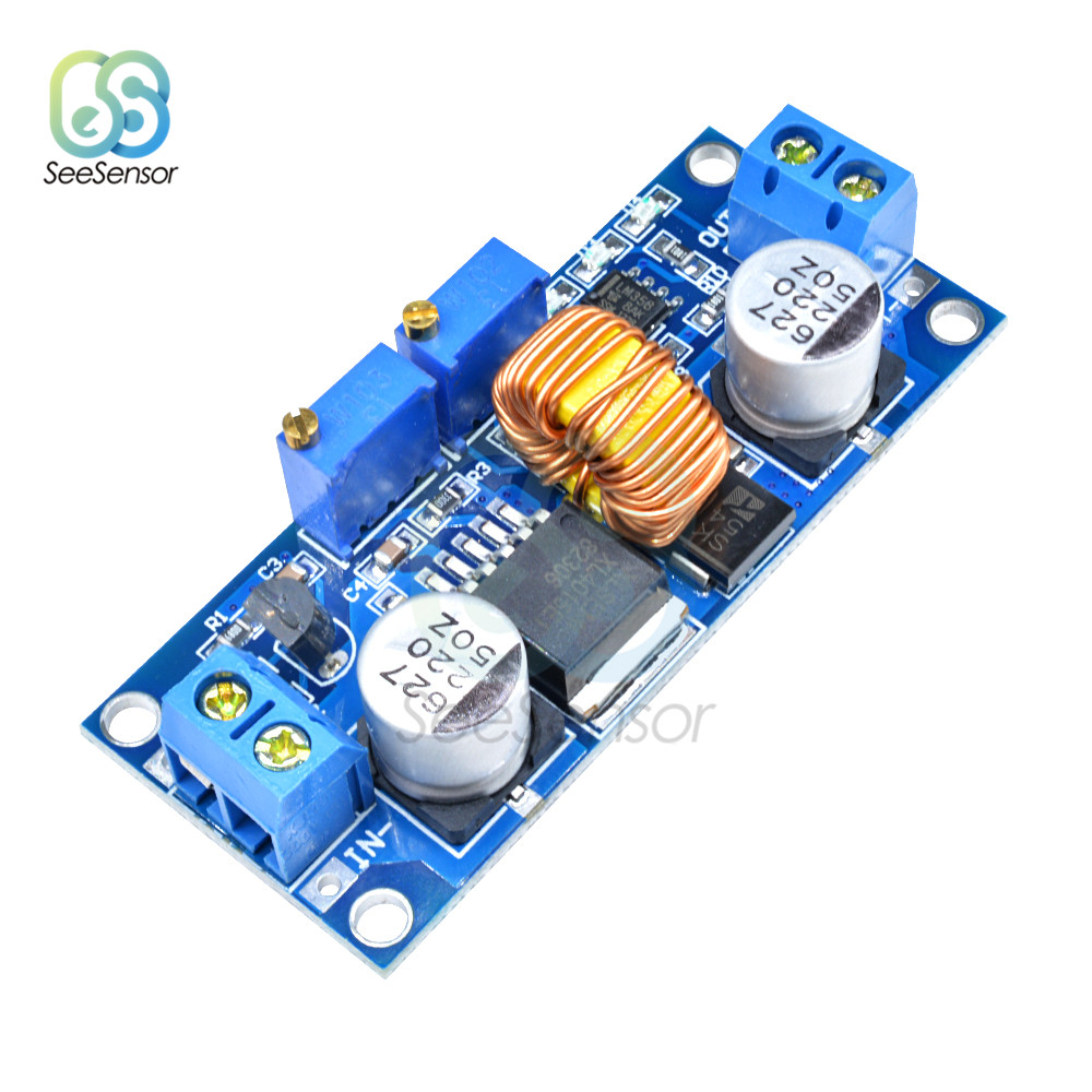 5A XL4015 DC-DC Buck Converter Adjustable Step Down Power Supply Module Buck Board LED Lithium Charger Constant Current Voltage