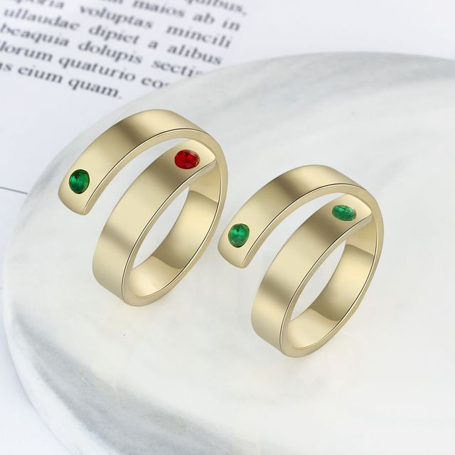 Personalized Birthstone Ring 4