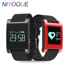 Niyoque DM68 Smart Band Фитнес сна трекер сообщение напоминание Приборы для измерения артериального давления кислорода сердечного ритма трекер для iOS и Android
