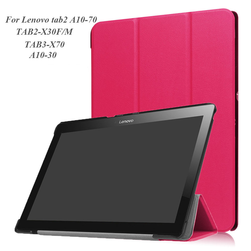 For Lenovo TAB2 A10-30 Cover Case PU Leather Case for Lenovo TAB 2 A10-70 A10-30 TAB3-X70 TAB2-X30F/M and Free Stylus Pen fashion case tab2 a10 70 filp pu leather cover case for lenovo tab 2 a10 70 10 1 x30f a10 30 10 high quality case film stylus