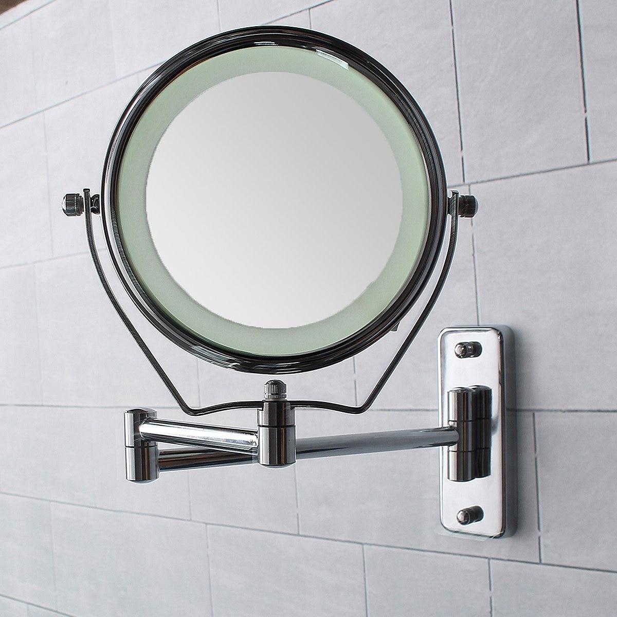6 дюймов двухсторонсветодио дный няя светодиодная подсветка увеличительное ванная бритвенные душевые зеркала 7x Макияж косметическое зерк...
