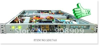 Elegant ultra-compact 1U rack mount chassis  RC1760 server case for Dual  separately Severs
