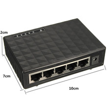 New RJ45 MINI 5-Ports Quick Ethernet Community Black Swap Hub for Desktop PC A8