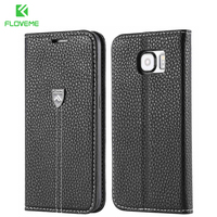 For Galaxy S6 Original Business Ultra Flip Real Genuine Leather Case For Samsung Galaxy S6 G9200