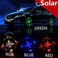 2 Unids 4 Modelo Accesorios de Auto Flash de Colores RGB Impermeable Luces Led Luces Para Llantas de Coche Rueda de la Energía Solar de La Lámpara