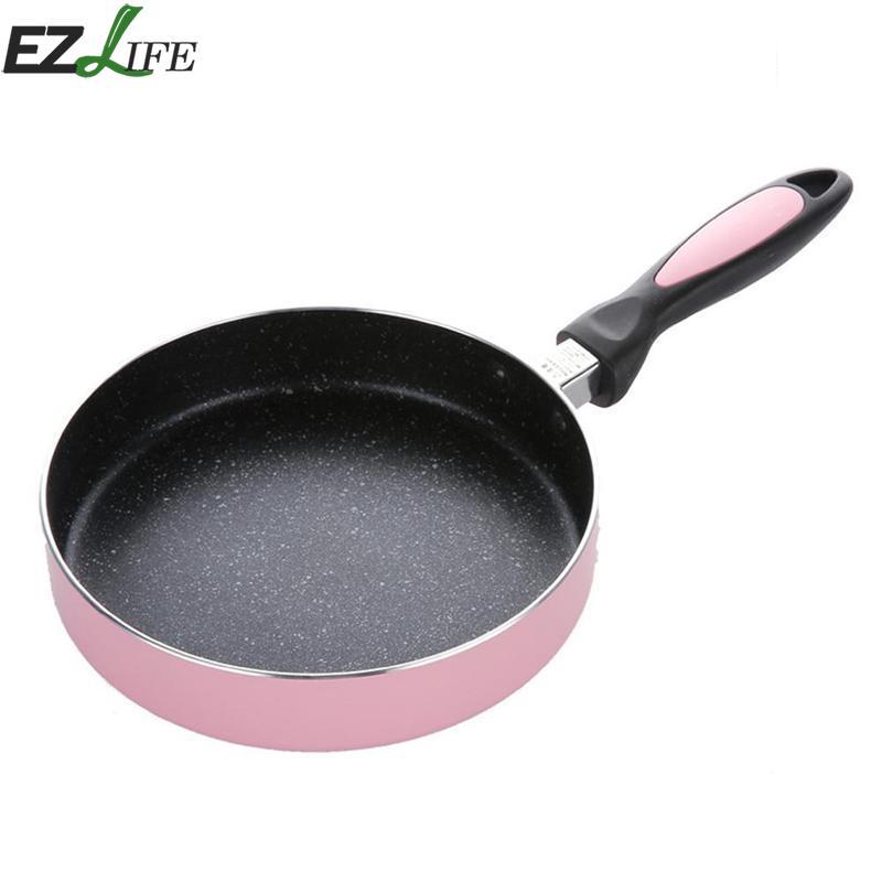 Non-stick 20cm Fry Pan Fried Egg Steak Skillet Grill Pan For Pancake Making Aluminum Frying Pan Kitchen Utensils LQZ1710