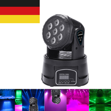 Lamp Moving-Head DMX512 Stage-Light-Effect Disco Rotating Dj-Show Party 7LED Mini RGBW