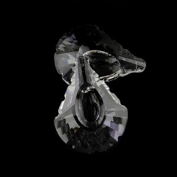 10 pcs 50-76mm Scallop Shape Clear Crystal Chandelier Prism Pendant Machine Cut Crystal Chandelier Glass Part Pendant 10pcs 6pcs 38mm 100mm clear crystal prism maple leaf glass crystal chandelier pendant party wedding decoration