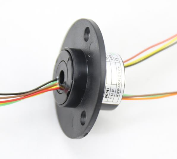 MOFLON slipring miniature slip ring with hole size 5mm OD22mm 4X2A electric slip ring MT0522