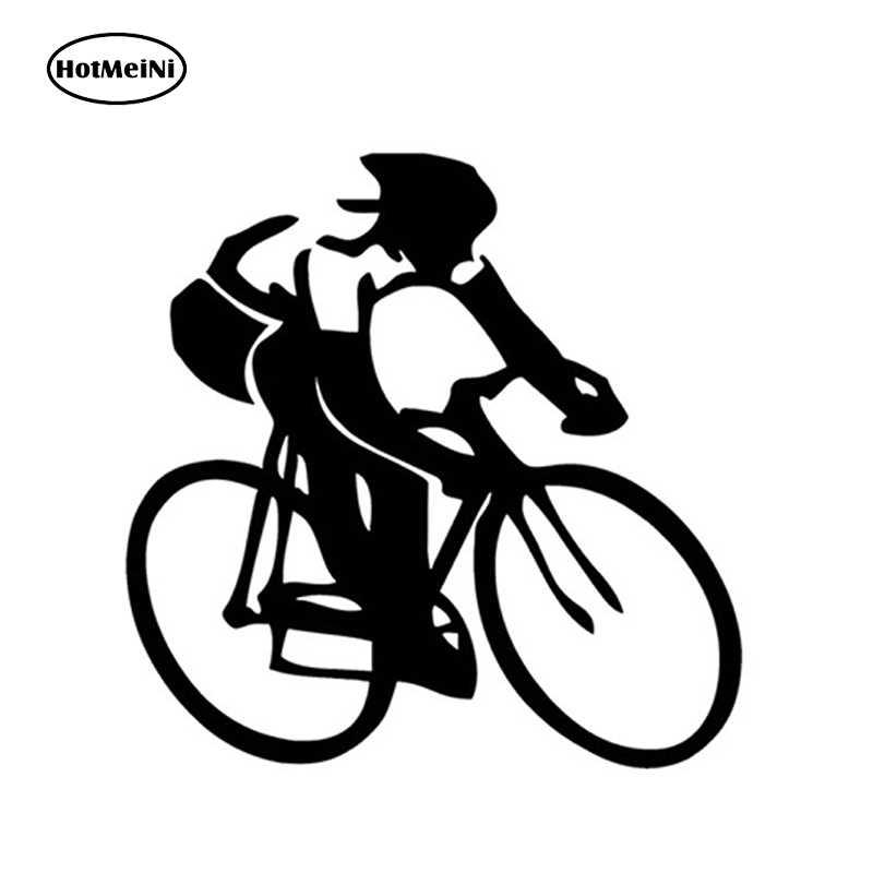 HotMeiNi 15 センチメートル × 13 センチメートルバイク車のステッカーサイクリング水泳ランニングスポーツ愛好家ビニールバンパー車アクセサリーデカール黒 /スライバー