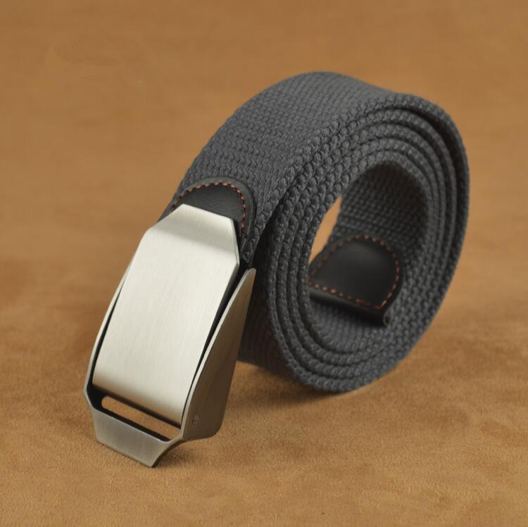 Best Unisex Tactical Belt Top quality 3.8 cm Wide Designer Brand Belt Canvas Belt Outdoor Alloy Automatic Buckle Men Belt Nos Men