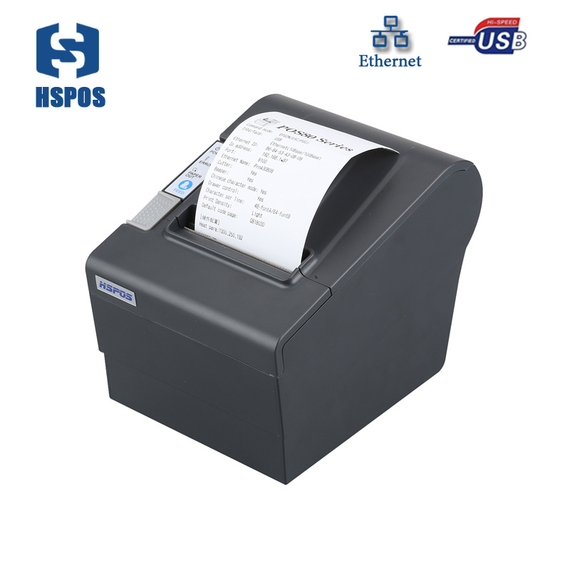 Cheapest 80 pos thermal receipt printer with automatic paper cutting function impressora termica USB and Lan port printer thermal cash register paper printing paper white 80mm